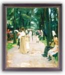 Max Liebermann: Papageienallee. 1902. Dietz-Giclée-Druck auf Künstlerleinwand.