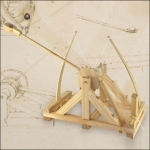 Da Vinci Katapult. Bausatz aus Holz.