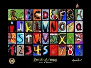 Schmetterlings-Alphabet-Poster.