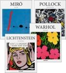 Moderne Künstler: Miró, Pollock, Warhol & Lichtenstein.
