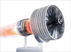 Der große Technik-Bausatz Flugzeugturbine.
