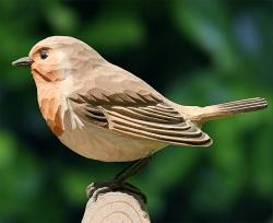 Vogelskulptur Rotkehlchen