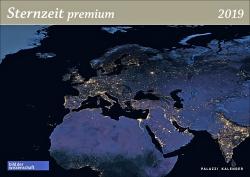 Sternzeit premium 2019. Panorama-Wandkalender.