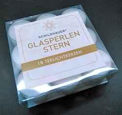 Teelichtkerzen transparent. 18 Stück.