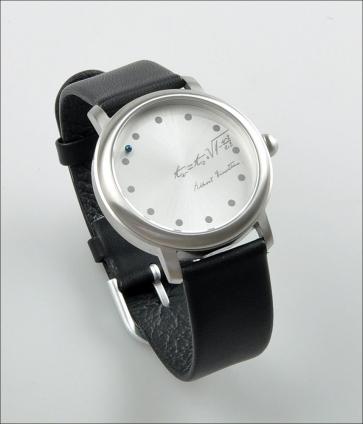 Ein-Stein-Uhr. Lederarmband