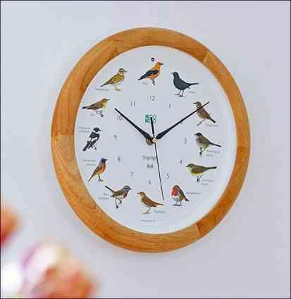 Die singende Vogeluhr. Holz-Rahmen