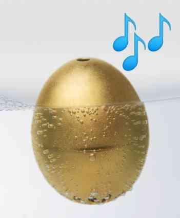 Golden-Ei. Die singende Eier-Uhr