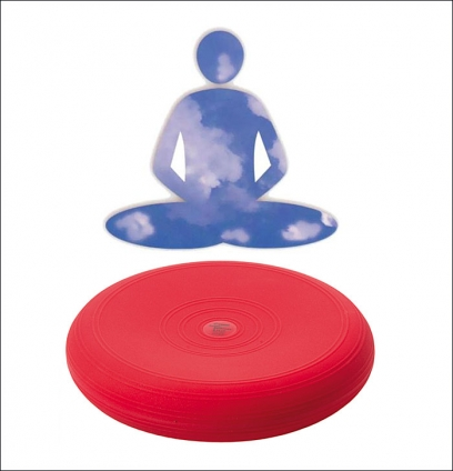 Luft-Kissen. Farbe Rot
