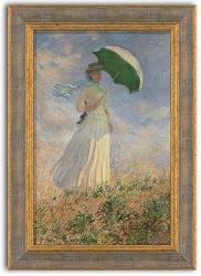 Claude Monet: Dame mit Schirm 1886. Fine Art Giclée-Druck auf Künstlerleinwand.