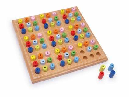 Sudoku Farbe. Echtholz-Spiel mit 1000-Rätsel-Buch!