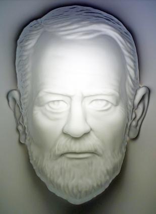 Sigmund Freud Büste Hohlmaske. Eine unglaubliche Illusion!