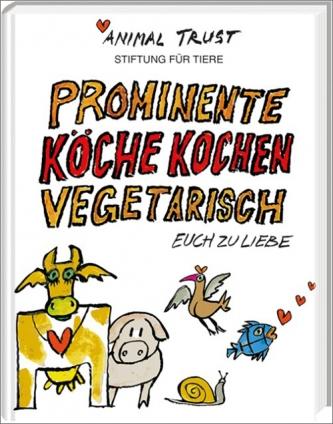 Prominente Köche kochen vegetarisch.