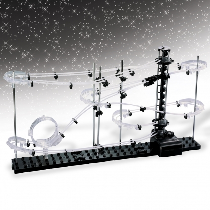 Murmel-Achterbahn Bausatz. Ein rasanter Spielspaß!