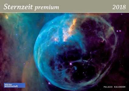 Sternzeit premium 2018. Panorama-Wandkalender.