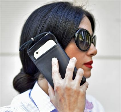 eWall®-Strahlenschutz-Etui für Smartphone. Größe L.