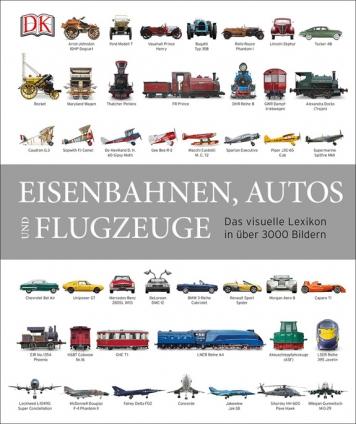 Eisenbahnen, Autos und Flugzeuge.