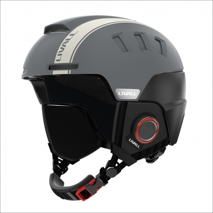 Skihelm RS1 LIVALL Smart Technology. Farbe Anthrazit-Grau.