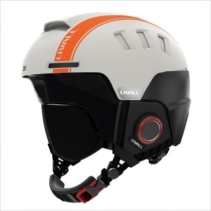 Skihelm RS1 LIVALL Smart Technology. Farbe Sand hell.