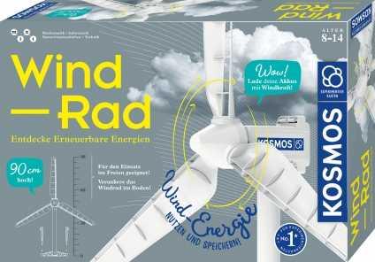 Wind-Rad. KOSMOS-Experimentierkasten.