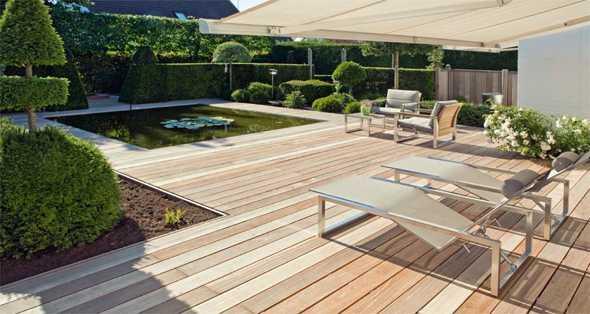 wasser im garten terrasse mit teich   cissy garten dekor, Garten Ideen