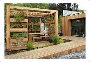gartengestaltung mit holz – 21 ideen für ein natürliches flair, Garten ideen
