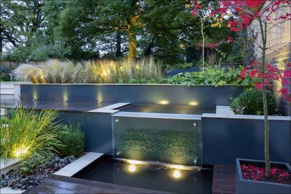gartenideen mit wasserfall – rekem, Garten und Bauen