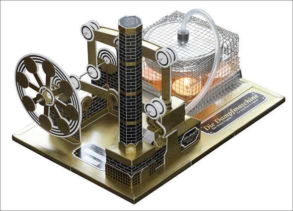 dampfmaschine karton bausatz. Black Bedroom Furniture Sets. Home Design Ideas