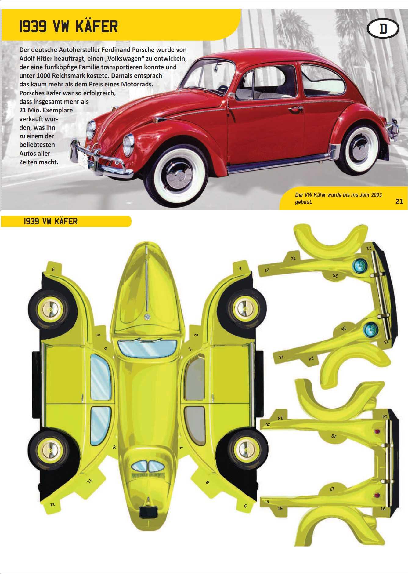 Bild Der Wissenschaft Shop Papertoys Autos Erlesenes Wissen